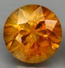 Fin Kvalitet Obehandlad Orange Zirkon 2,08 Ct Brilliant Slipning med Underbar Lyster