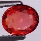 Songea Behandlad Topp Orange Safir 0,61 Ct Oval Slipning Topp Luster