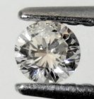 Mycket Bra Lyster Vit (Crystal-Cape) Diamant 0,17 Ct Brilliant Slipning Kvalitet SI-I