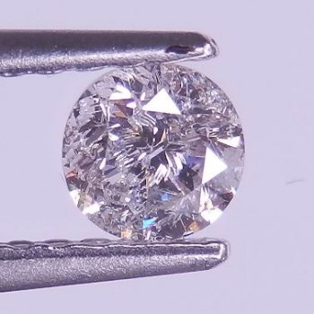Mycket Bra Lyster Vit (H-J) Diamant 0,30 Ct Brilliant Slipning Kvalitet I1-I2