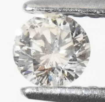 Mycket Bra Lyster Vit (Crystal) Diamant 0,25 Ct Brilliant Slipning Kvalitet SI-I