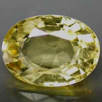 Guldgul Beryll 0,35 Ct Oval 6x4 mm VVS-VS